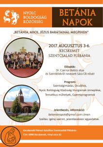 Betánai napok plakát 2017
